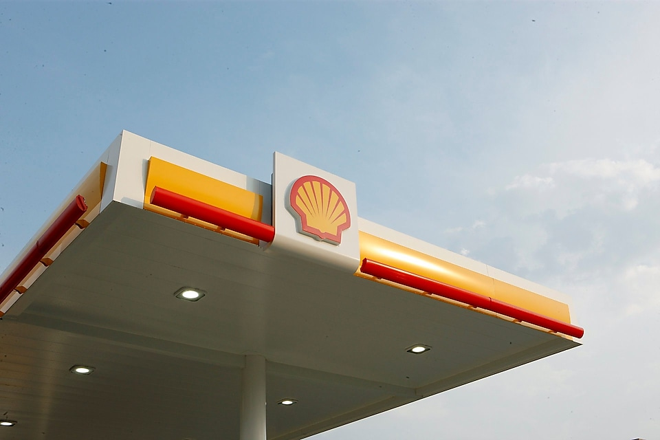 woman at the Shell Station